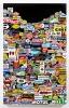 <br/>Laque automobile sur tôle, papier adhésifs, vernis<br/>175 x 110 x 8 cm<br/>©François Fernandez